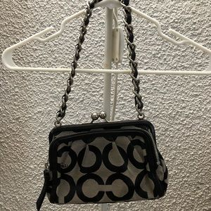 COACH Signature Canvas Chain Purse